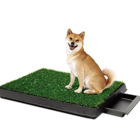 Indoor Dog Pet Grass Mat Portable Loo Toilet Potty Trainer