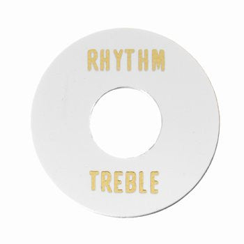AP-0663-025 White Plastic Rhythm/Treble Ring