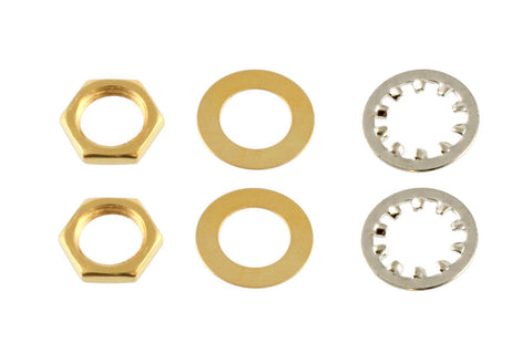 EP-4970-002 Gold Nuts and Washers for USA Pots and Jacks