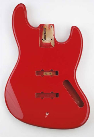 JBF-FR Fiesta Fiesta Red Finished Replacement Body for Jazz Bass¬