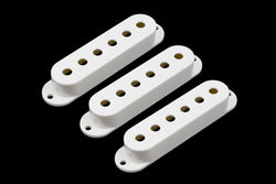 PC-0406-025 Set of 3 White Pickup Covers for Stratocaster¬