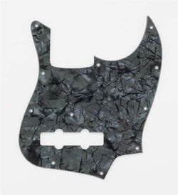 PG-0755-052 Dark Black Pearloid Pickguard for Jazz Bass¬