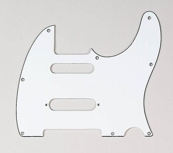 PG-9563-035 White S-Cut Pickguard for Telecaster¬