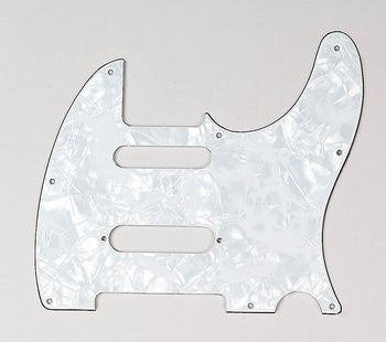 PG-9563-055 White Pearloid S-Cut Pickguard for Telecaster¬