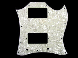 PG-9803-055 Large White Pearloid Pickguard for Gibson¬ SG¬