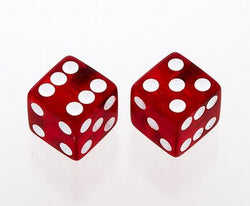 PK-3250-067 Transparent Red Dice Knobs