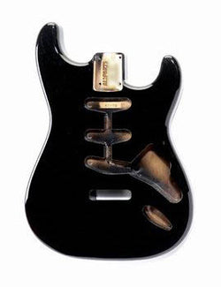 SBF-BK Black Finished Replacement Body for Stratocaster¬