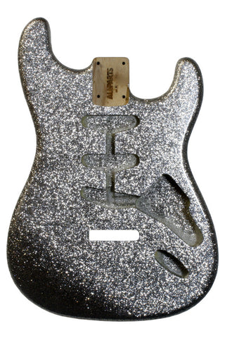 SBF-SS Silver Sparkle Finished Replacement Body for Stratocaster¬