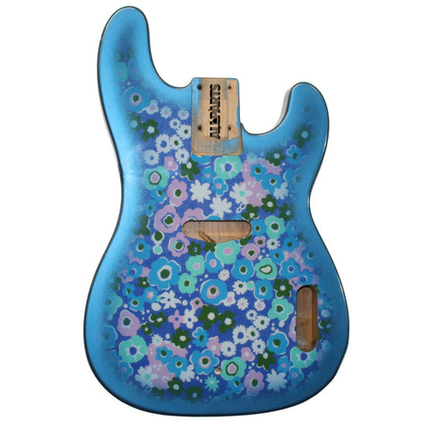 TBBF-BF Blue Flower Finished Replacement Body for Telecaster¬ Bass¬