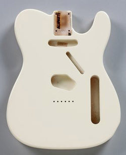 TBF-OW Olympic White Finished Replacement Body for Telecaster¬