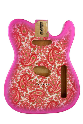 TBF-PKP Pink Paisley Finished Replacement Body for Telecaster¬