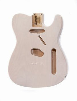 TBF-WH See Through White Finished Replacement Body for Telecaster¬