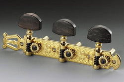 TK-7955-0E2 Schaller Gold and Ebony Lyre Classical Tuner Set