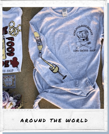 !A Ready To Ship: DOUBLE SIDED SERIES: Wine + Food Festival LONG SLEEVE Tee
