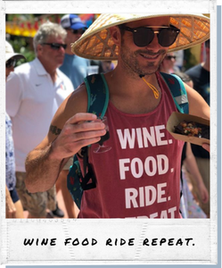 !A Ready To Ship: STATEMENT SERIES: WINE food ride repeat ™️ Tank