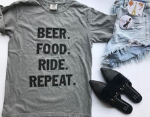 Load image into Gallery viewer, !A Ready To Ship: STATEMENT SERIES: BEER food ride repeat ™️ Tee/Tank
