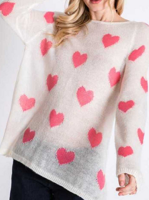 !*Boutique Collection SALE! Queen Of Hearts Sweater-ONLY LARGE LEFT!
