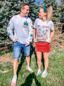 !!!2019 CHRISTMAS: Home For the Holiday's Short Sleeve Tee (Ships Next Day)