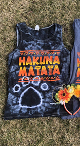 !A Ready To Ship: STATEMENT SERIES: Hakuna TIE DYED Tank