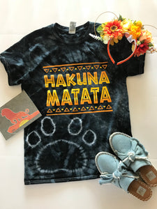 !A Ready To Ship: STATEMENT SERIES: Hakuna Tie Dyed Tee