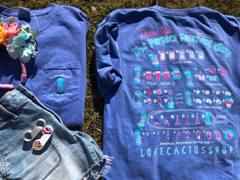 !A Ready To Ship: SPRING SERIES: Draw Up The Perfect Festival Day Tee