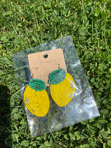 *Boutique Collection:  Lemon Earrings