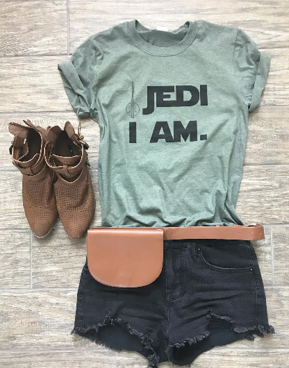 !A Ready To Ship: $15 SERIES: Jedi I Am Tee