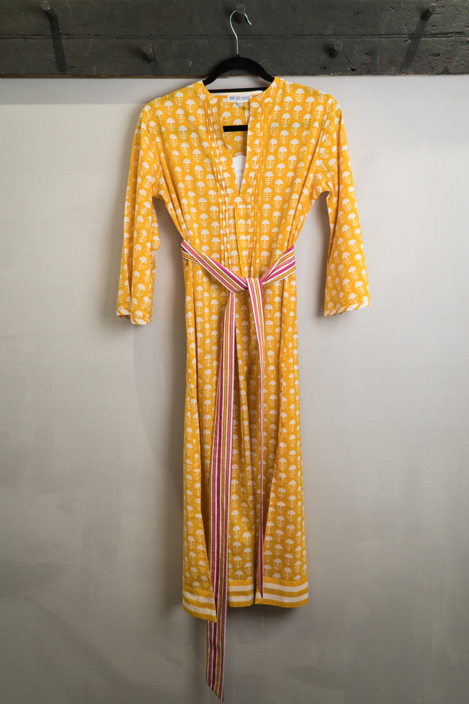 Pink City Prints Yellow Dress
