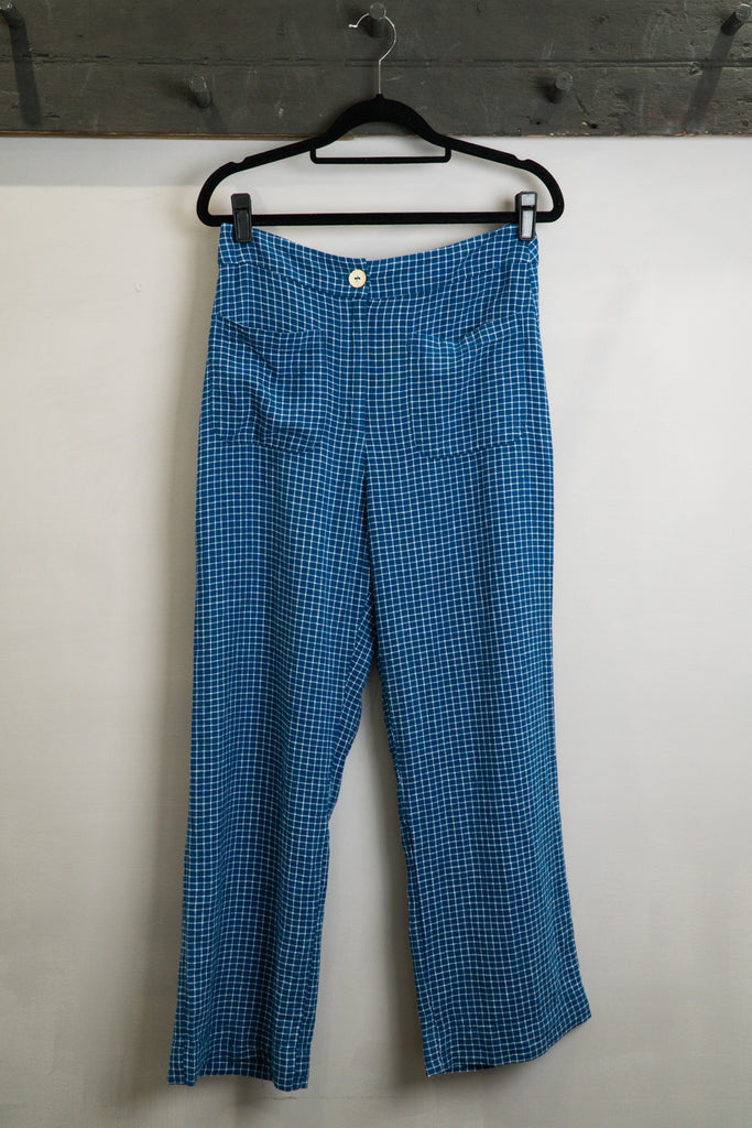 Nice Things Linen Check Pant