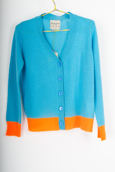 Jumper 1234 blue cardigan