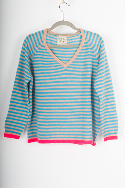 Jumper 1234 Little V stripe jumper