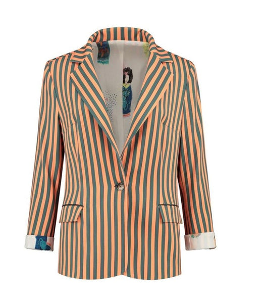 Pom Amsterdam Blazer in Stripes by Katja