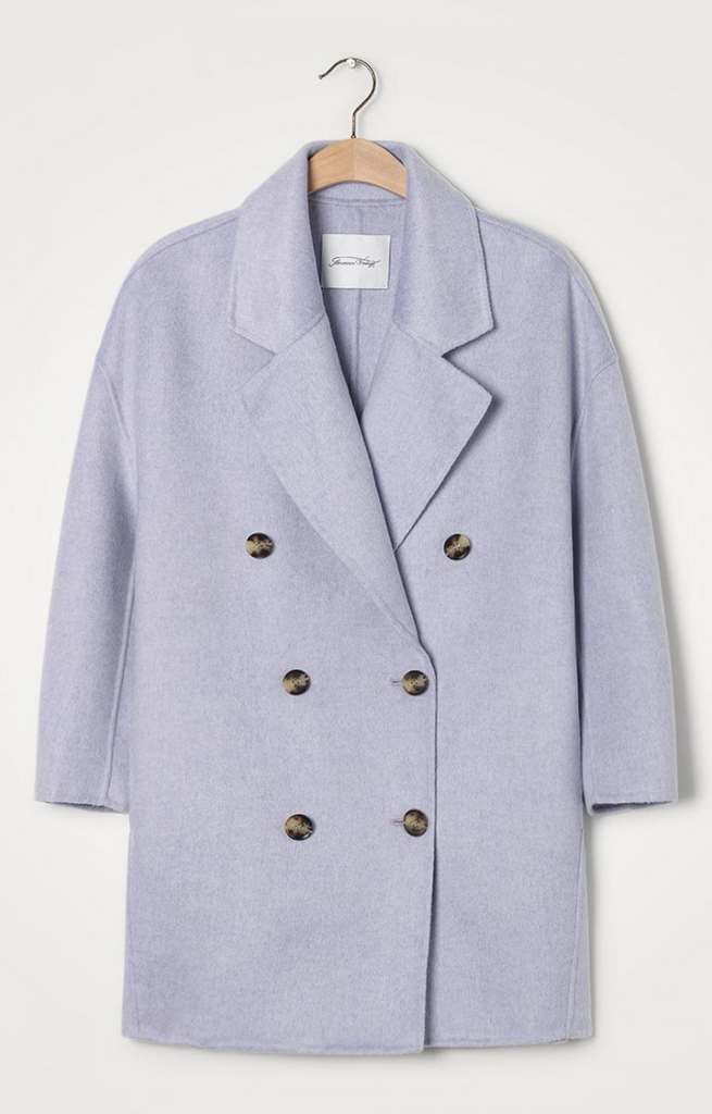 American Vintage Dadoulove coat in Parma chine