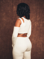 Mona Cream Two-Piece Suit