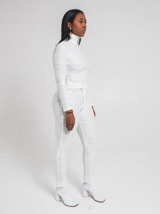 Textured Side Zip Pants