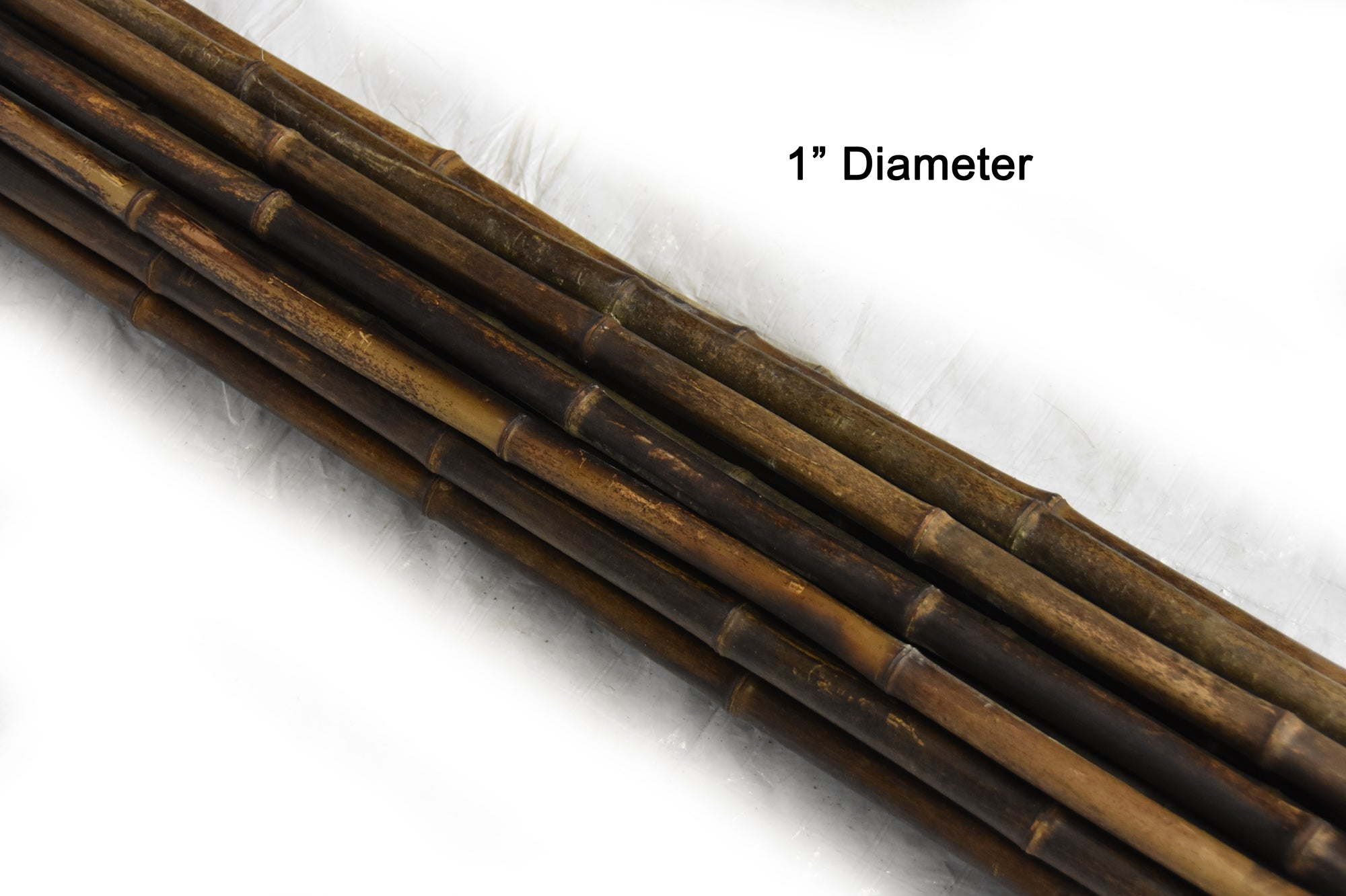 "Dark Brown Bamboo Pole 1""D x 10'L - Bamboo Toronto Store"