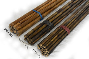 "Dark Brown Bamboo Pole 1.5""D x 10'L - Bamboo Toronto Store"