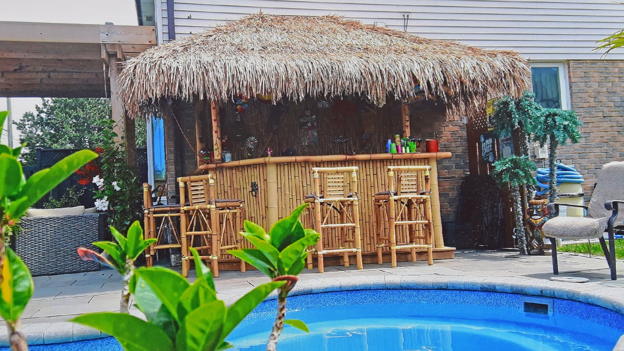 Mexican Palm Leaf Thatch Roofing - Bamboo Toronto Store