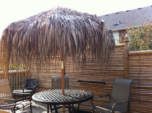 Palm Leaf Sewn Thatch Umbrella - Bamboo Toronto Store