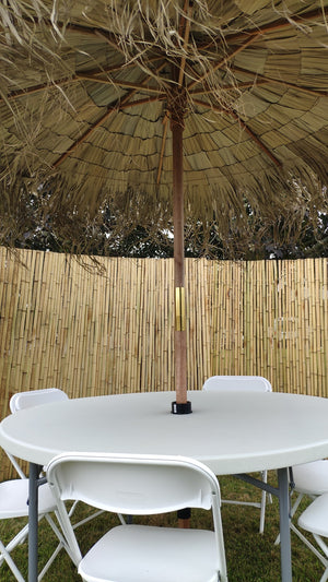 Asian Thatch Umbrella Table Chair Set - Bamboo Toronto Store