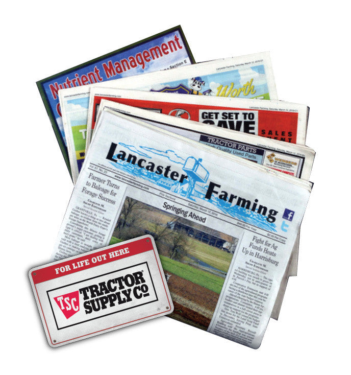 Lancaster Farming DEAL - First 16 subscribers receive a TSC gift card