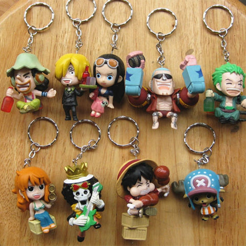 Straw Hat Pirates 9 Keychains/Set