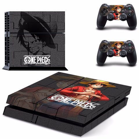 Luffy PS4 Skin Sticker For Console And 2 Controller