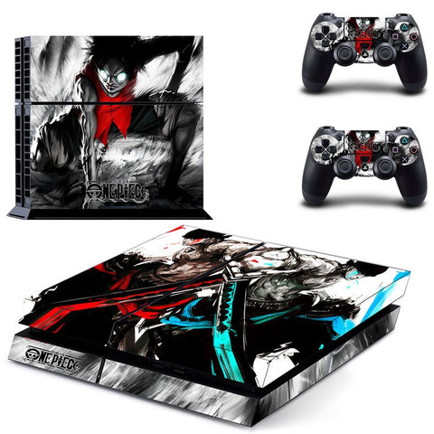 Luffy/Zoro PS4 Skin Sticker For Console And 2 Controller