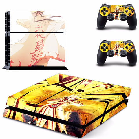 Naruto PS4 Skin Sticker For Console And 2 Controller