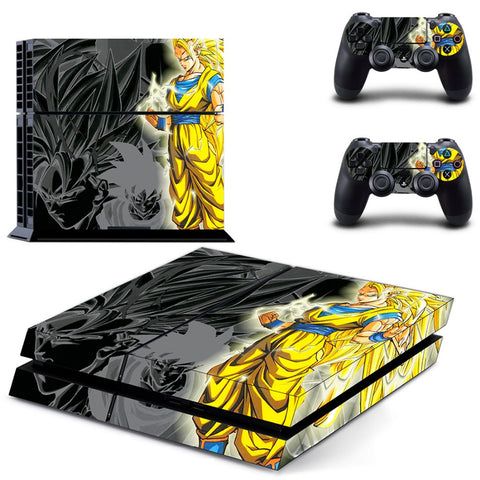 SSJ3 Goku PS4 Skin Sticker For Console And 2 Controller