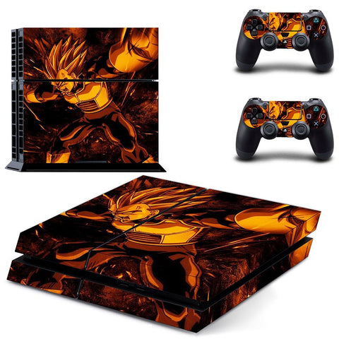 Vegeta PS4 Skin Sticker For Console And 2 Controller