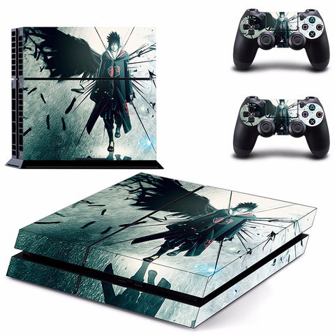 Uchiha Sasuke PS4 Skin Sticker For Console And 2 Controller