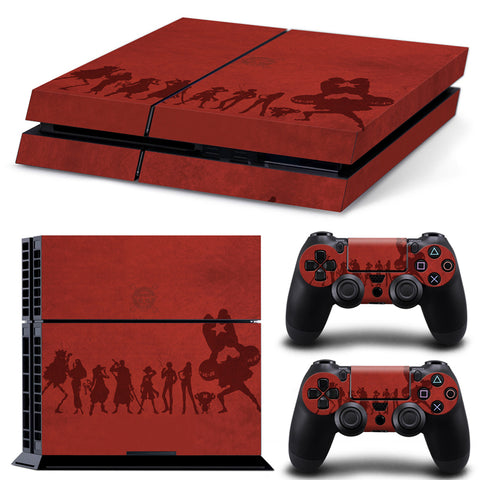 One Piece PS4 Skin Sticker For Console And 2 Controller