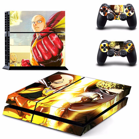 One Punch Man PS4 Skin Sticker For Console And 2 Controller